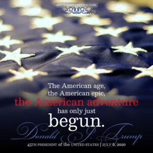 President Trump   July 6, 2020   alittleperspective.com