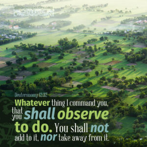 Deu 12:32 | scripture pictures at alittleperspective.com