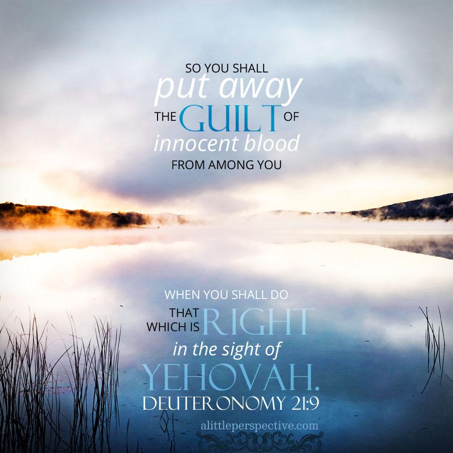 Deu 21:9 | scripture pictures at alittleperspective.com