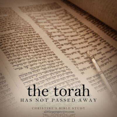 the torah has not passed away