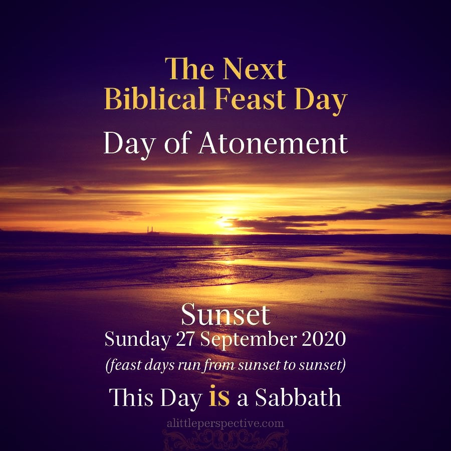 the next biblical feast day 2020 | alittleperspective.com