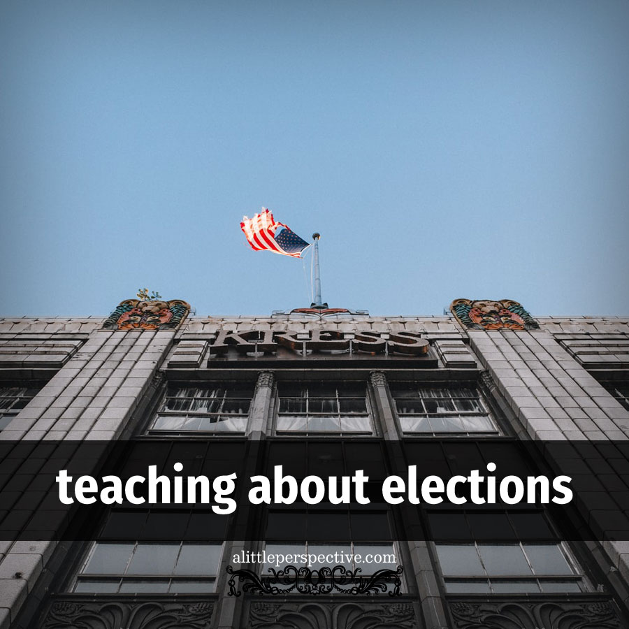 teaching about elections | alittleperspective.com