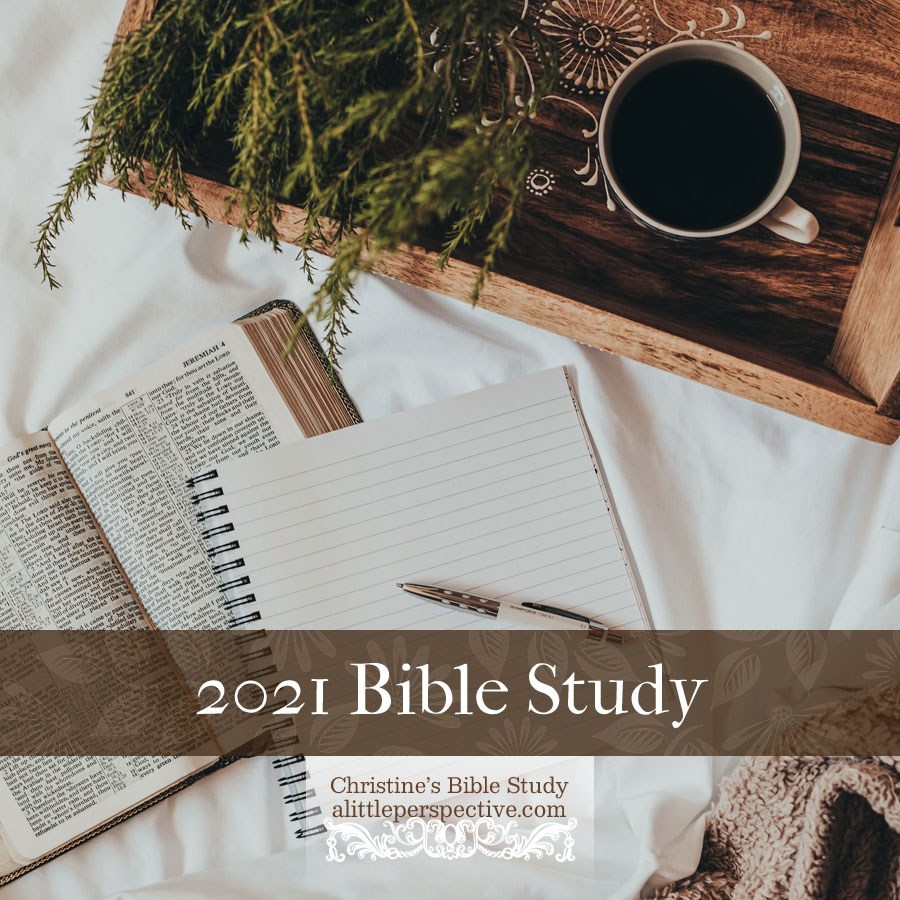 2021 Bible Study Schedule