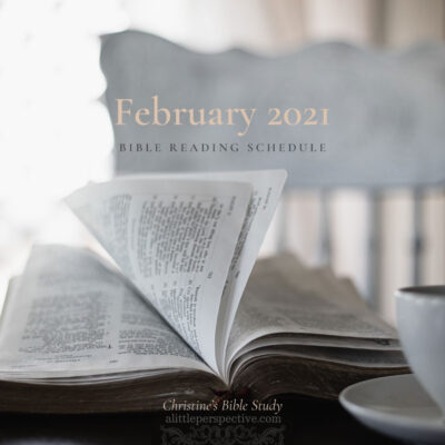 February 2021 Bible Reading Schedule