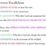 Job 23:1-24:25 Reverse Parallelism | hebraicfaithbible.com