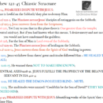 Mat 12:1-45 Chiastic Structure | hebraicfaithbible.com