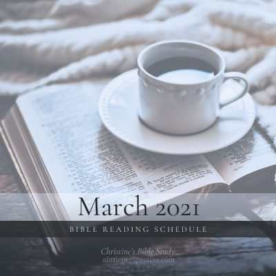 March 2021 Bible Reading Schedule
