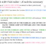 Num 3:1-4:20 chiasm summary | hebraicfaithbible.com