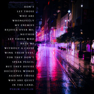 Psa 35:19-20 | scripture pictures @ alittleperspective.com