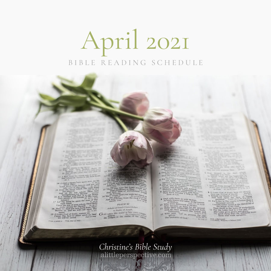 April 2021 Bible Reading Schedule | Christine's Bible Study @ alittleperspective.com