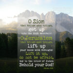 Isa 40:9 | scripture pictures @ alittleperspective.com