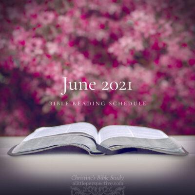 June 2021 Bible Reading Schedule