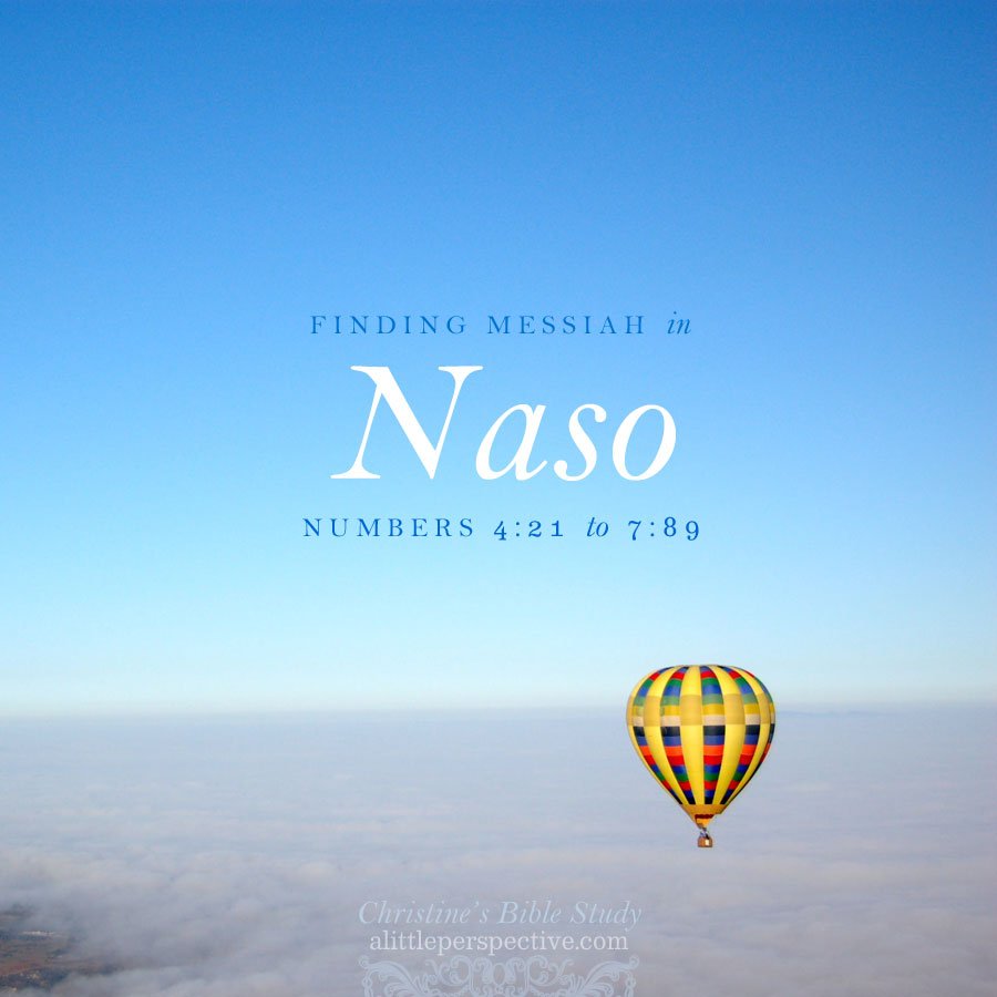 finding messiah in naso, num 4:21-7:89   christine's bible study @ alittleperspective.com