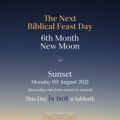 6th Biblical Month New Moon