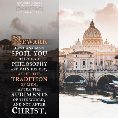 colossians 2:20-23, the commandments and doctrines of men