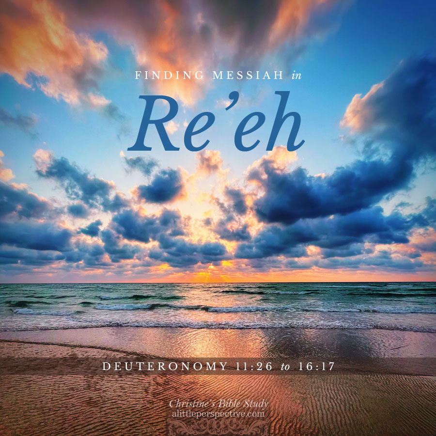 Finding Messiah in Re'eh. Deuteronomy 11:26-16:17 | Christine's Bible Study @ alittleperspective.com