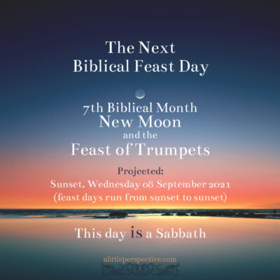 7th Month New Moon and the Feast of Trumpets